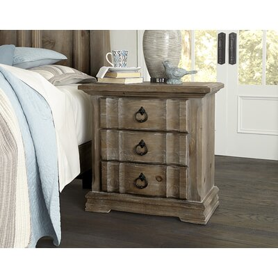 Kilpatrick 3 Drawer Nightstand Color: Saddle Gray