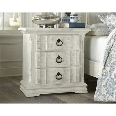 Kilpatrick 3 Drawer Nightstand Color: Weathered White