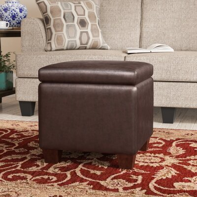 Caseyville Storage Ottoman Upholstery: PVC Brown