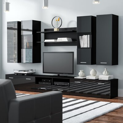 Cosmo Entertainment Center Color: Black Gloss