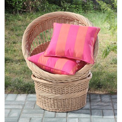 Clairebella Cabana Stripe 2 Piece Outdoor Throw Pillow Color: Pink