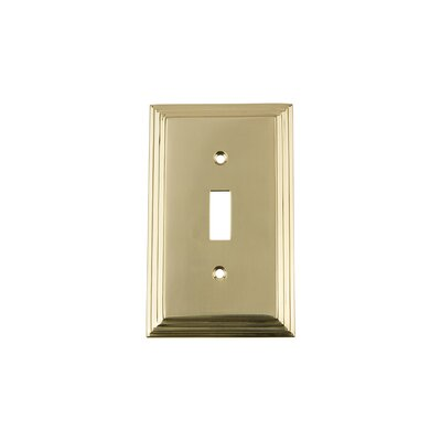 Deco Light Switch Plate Finish: Polished Brass