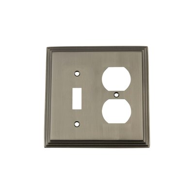 Deco Light Switch Plate Finish: Antique Pewter