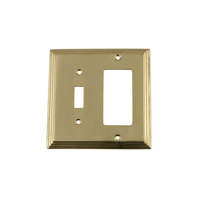 Deco Light Switch Plate Finish: Polished Brass