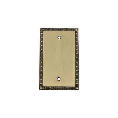 Egg & Dart Light Socket Plate Finish: Antique Brass
