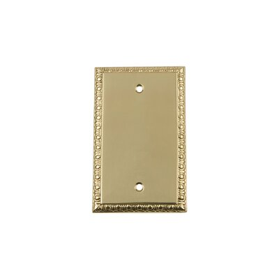 Egg & Dart Light Socket Plate Finish: Polished Brass