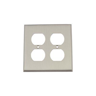 New York Light Switch Plate Finish: Satin Nickel