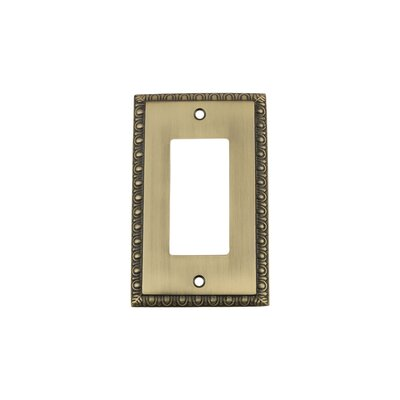 Egg & Dart Light Switch Plate Finish: Antique Brass