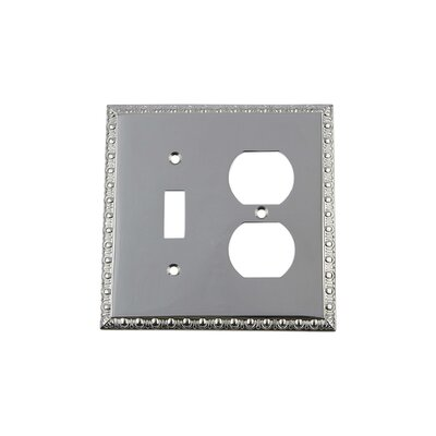 Egg & Dart Light Switch Plate Finish: Bright Chrome