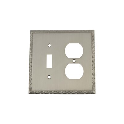 Egg & Dart Light Switch Plate Finish: Satin Nickel