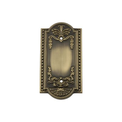Meadows Light Socket Plate Finish: Antique Brass