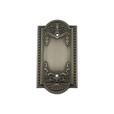 Meadows Light Socket Plate Finish: Antique Pewter