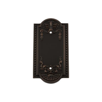 Meadows Light Socket Plate Finish: Timeless Bronze