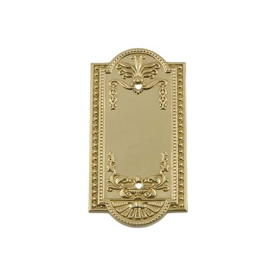 Meadows Light Socket Plate Finish: Unlacquered Brass