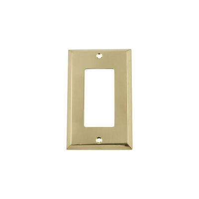 New York Light Switch Plate Finish: Polished Brass