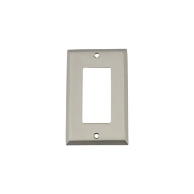 New York Light Switch Plate Finish: Satin Nickel