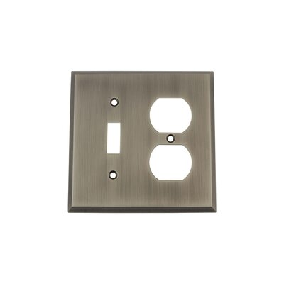 New York Light Switch Plate Finish: Antique Pewter