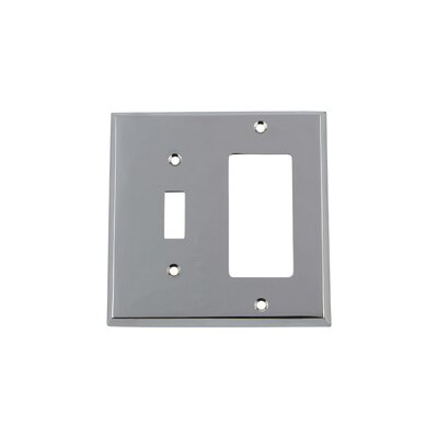 New York Light Switch Plate Finish: Bright Chrome