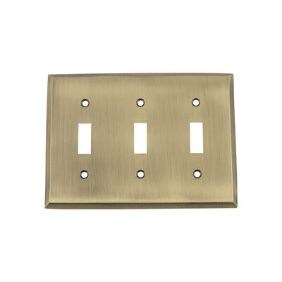 New York Light Switch Plate Finish: Antique Brass
