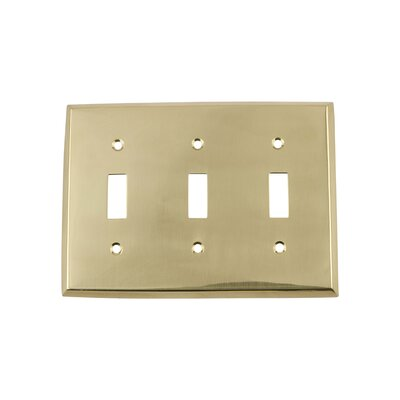 New York Light Switch Plate Finish: Polished Brass