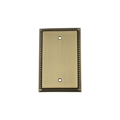 Rope Light Socket Plate Finish: Antique Brass
