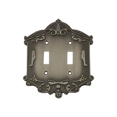 Victorian Light Switch Plate Finish: Antique Pewter