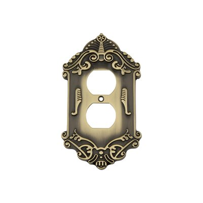Victorian Light Switch Plate Finish: Antique Brass