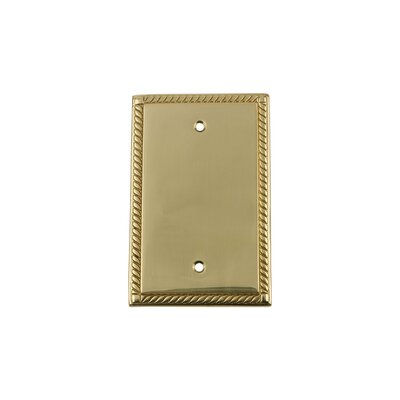 Rope Light Socket Plate Finish: Unlacquered Brass