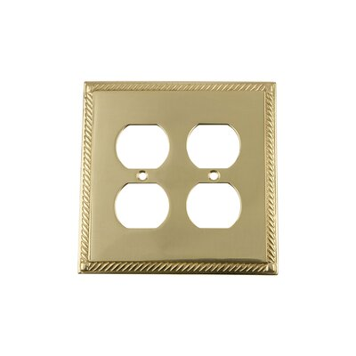 Rope Light Switch Plate Finish: Polished Brass
