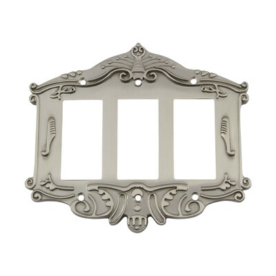 Victorian Light Switch Plate Finish: Satin Nickel