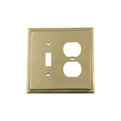 Rope Light Switch Plate Finish: Polished Brass
