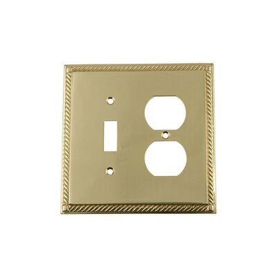 Rope Light Switch Plate Finish: Unlacquered Brass