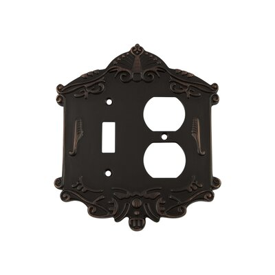 Victorian Light Switch Plate Finish: Timeless Bronze