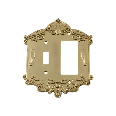 Victorian Light Switch Plate Finish: Unlacquered Brass