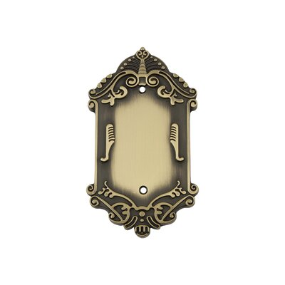 Victorian Light Socket Plate Finish: Antique Brass