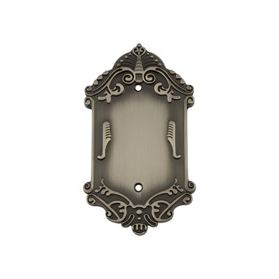 Victorian Light Socket Plate Finish: Antique Pewter