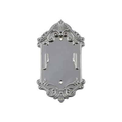 Victorian Light Socket Plate Finish: Bright Chrome