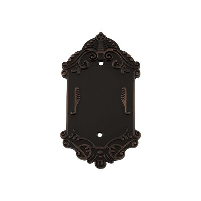 Victorian Light Socket Plate Finish: Timeless Bronze