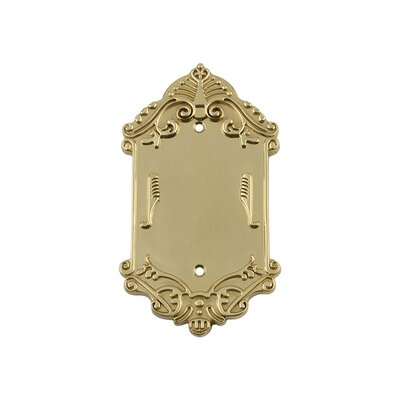 Victorian Light Socket Plate Finish: Unlacquered Brass