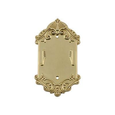 Victorian Light Socket Plate Finish: Unlacquered Brass