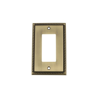 Rope Light Switch Plate Finish: Antique Brass