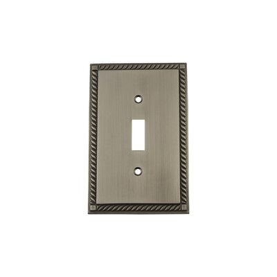 Rope Light Switch Plate Finish: Antique Pewter