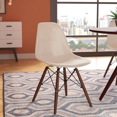 Bakken Solid Wood Dining Chair Finish: Cream Beige