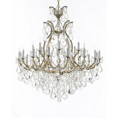 Maclachlan 16-Light Candle-Style Chandelier Color: Gold