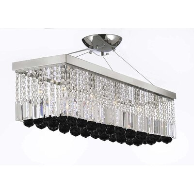 Marianne Rectangular 10-Light Kitchen Island Pendant