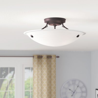 Everett Semi Flush Mount Finish: Bronze