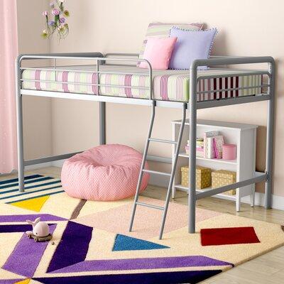 Myron Junior Twin Low Loft Bed Color: Silver Metal
