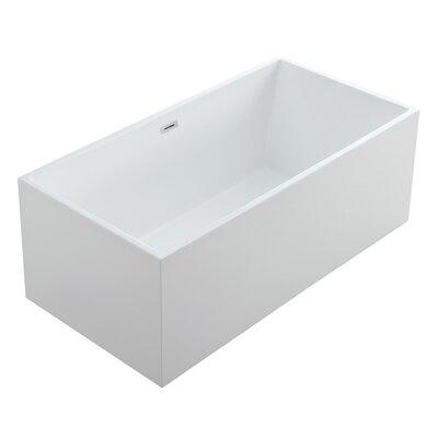 Aphrodite 67 x 30 Freestanding Soaking Bathtub Size: 23.5 H x 67 W x 30 D