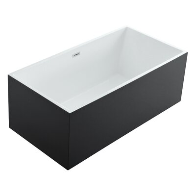 Aphrodite 60 x 30 Freestanding Soaking Bathtub Color: Black