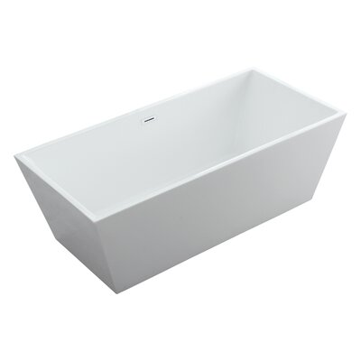 Athena Freestanding Soaking Bathtub Size: 23.5 H x 60 W x 30 D